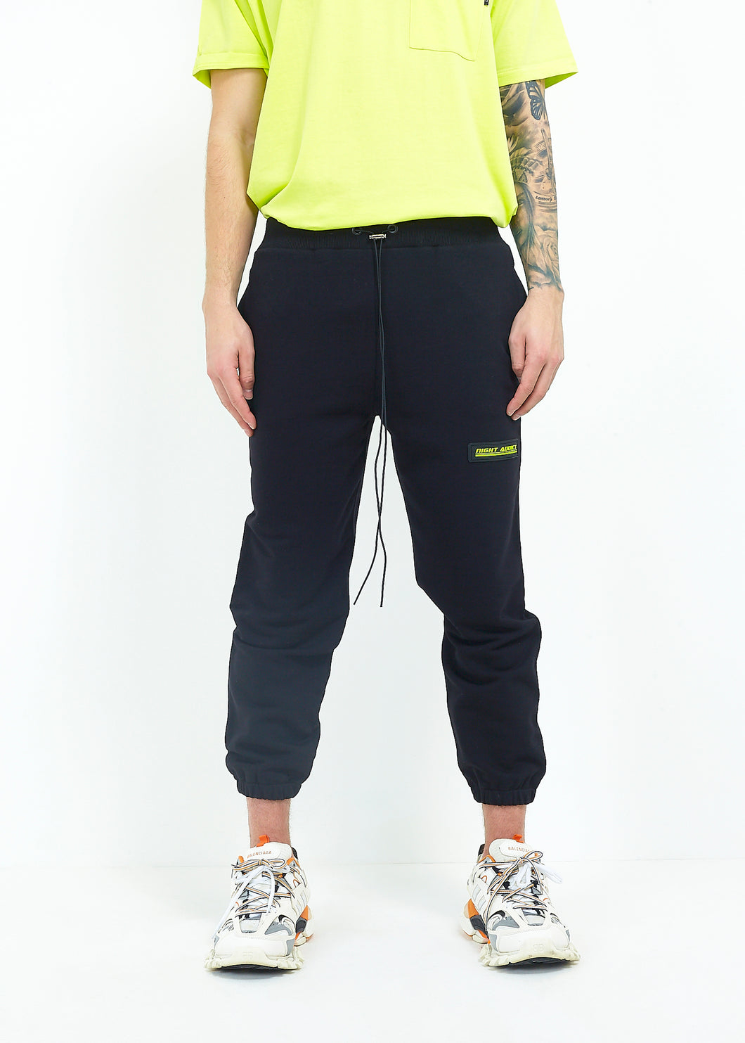 CROPPED JOGGERS - BLACK