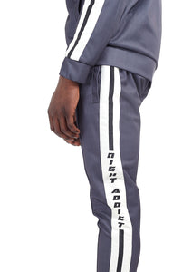 TECHNICAL TRACK PANTS - CHALK STRIPE
