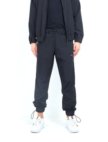 NYLON LOGO TRACK PANTS - BLACK