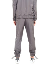 NYLON LOGO TRACK PANTS - GREY