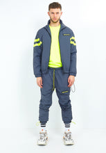NIGHT ADDICT GREY W/NEON NYLON TRACKSUIT