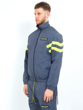 NIGHT ADDICT GREY W/NEON NYLON TRACK JACKET SIDE