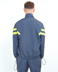 NIGHT ADDICT GREY W/NEON NYLON TRACK JACKET BACK