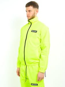 NIGHT ADDICT NEON TRACK JACKET - YELLOW