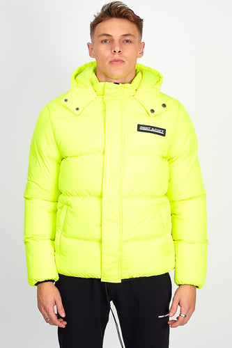 OVERSIZED PUFFER JACKET – NEON YELLOW