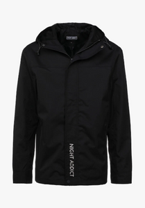 NIGHT ADDICT BLACK HOODED JACKET INVISIBLE MANNEQUIN