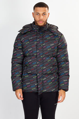 OVERSIZED PUFFER JACKET – ALL OVER PRINT