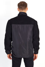 NIGHT ADDICT BLACK AND RED BORG PANEL OVERHEAD JACKET BACK