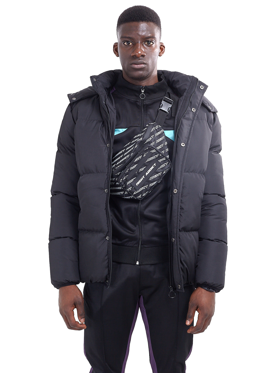 NIGHT ADDICT OVERSIZED PUFFER - BLACK