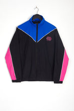 NIGHT ADDICT RETRO COLOUR BLOCK TRACK JACKET FRONT