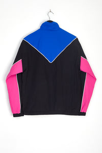 NIGHT ADDICT RETRO COLOUR BLOCK TRACK JACKET BACK