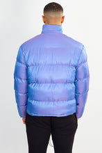 IRIDESCENT PUFFER JACKET – PURPLE