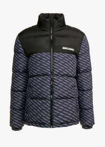 NIGHT ADDICT PANELLED LOGO PUFFER JACKET