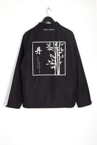 LIGHTWEIGHT BACK PRINT JACKET - BLACK