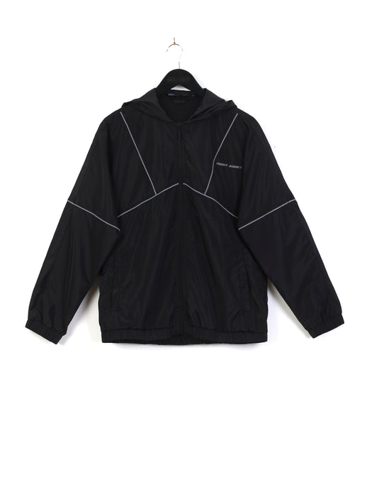 ZIP THROUGH NYLON HOODED JACKET