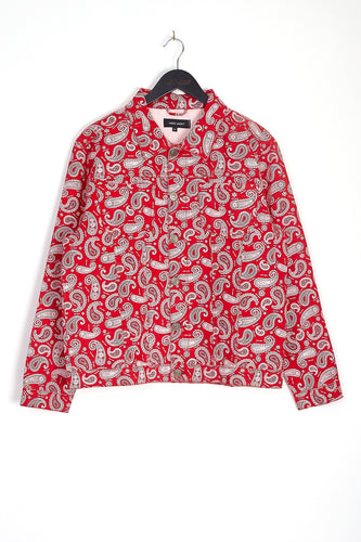 DENIM PAISLEY JACKET – RED