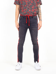 NIGHT ADDICT CHARCOAL SKINNY FIT JEANS FRONT