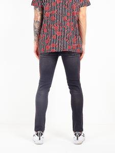 NIGHT ADDICT CHARCOAL SKINNY FIT JEANS BACK