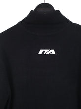 TURTLE NECK KNIT JUMPER - BLACK