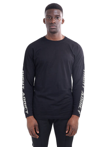 LONG SLEEVE RACER T-SHIRT - BLACK