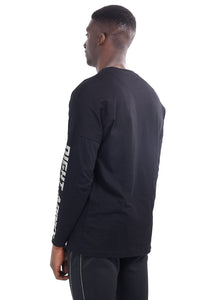 NIGHT ADDICT LONG SLEEVE RACER T-SHIRT - BLACK