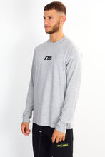 NIGHT ADDICT LONG SLEEVE LOGO TEE – GREY