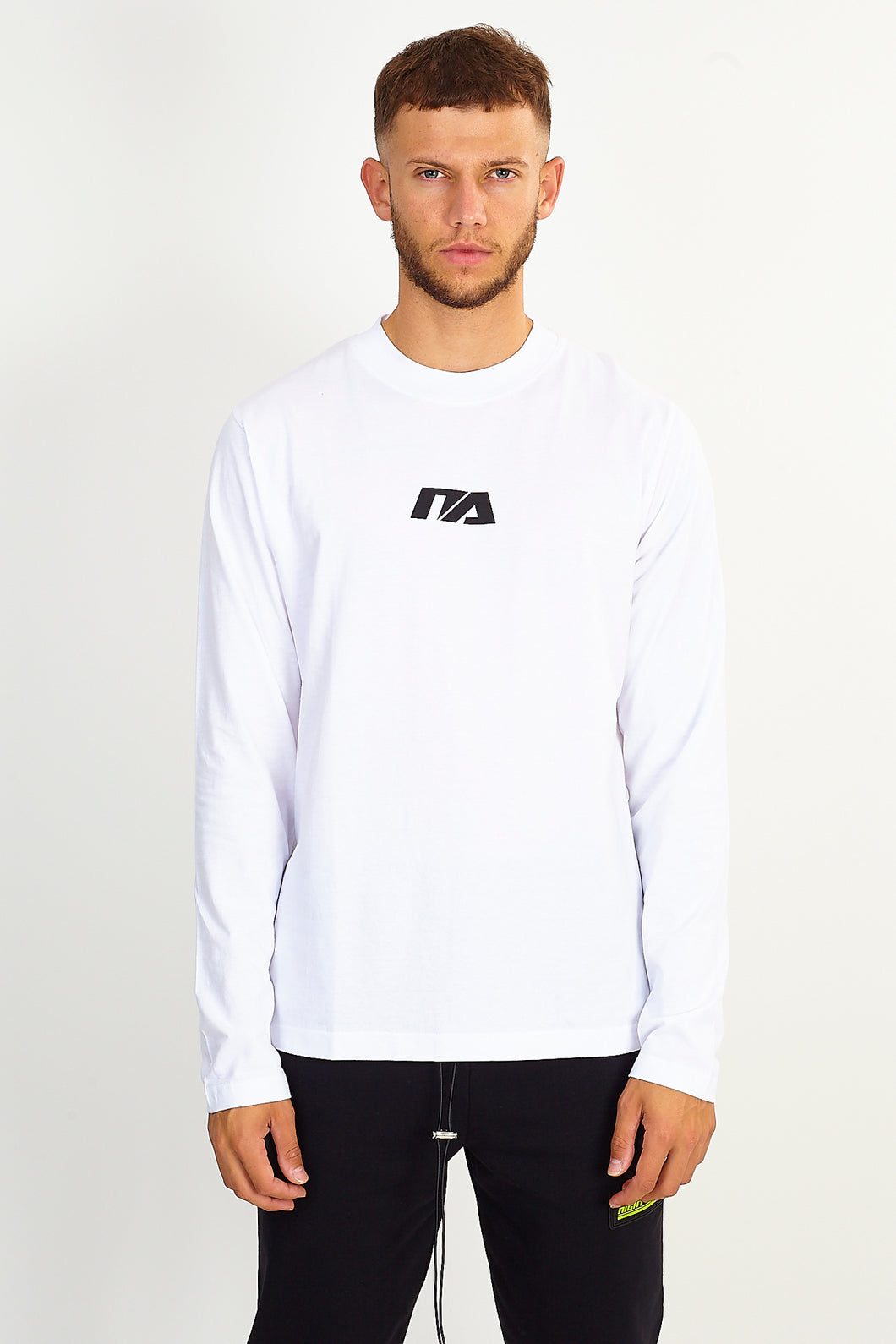 LONG SLEEVE LOGO TEE – WHITE