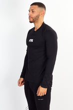 LONG SLEEVE LOGO TEE – BLACK