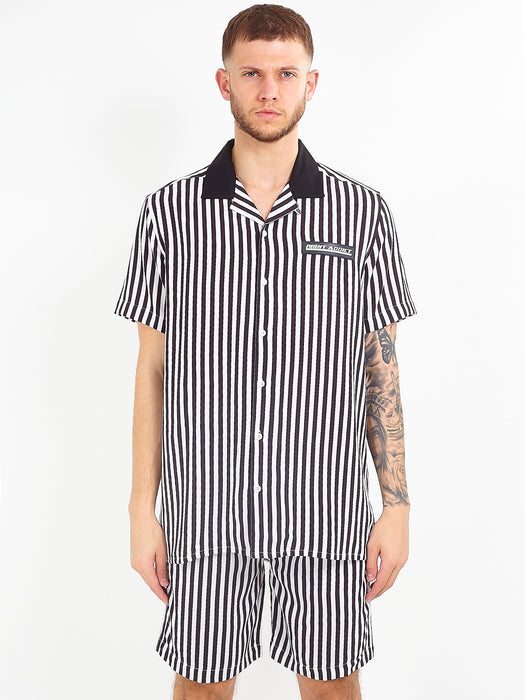 MONOCHROME STRIPED VISCOSE SHIRT