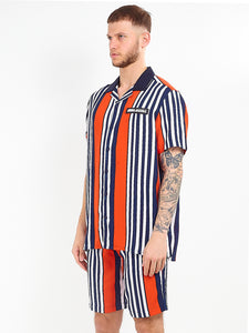 NIGHT ADDICT STRIPED VISCOSE SHIRT