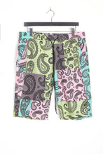 NIGHT ADDICT PATCHWORK PAISLEY PRINT SHORTS