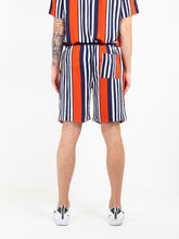 NIGHT ADDICT STRIPED VISCOSE SHORTS