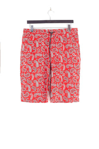 NIGHT ADDICT PAISLEY PRINT SHORTS - RED