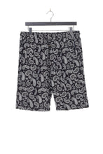 PAISLEY PRINT SHORTS - BLACK