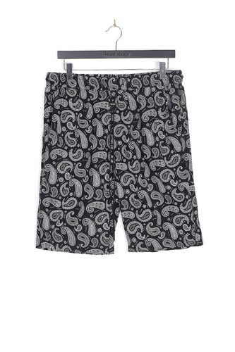 NIGHT ADDICT PAISLEY PRINT SHORTS - BLACK