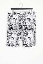 NIGHT ADDICT ALL OVER ANIME PRINT SHORTS FRONT