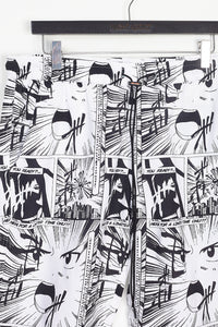 NIGHT ADDICT ALL OVER ANIME PRINT SHORTS DETAIL