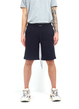 LOGO SHORTS - BLACK AND GREY MARL