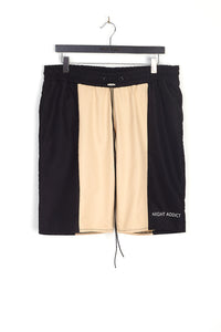 NIGHT ADDICT CUT AND SEW NYLON SHORTS