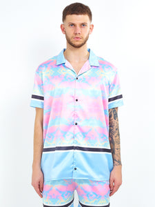 NIGHT ADDICT TIE DYE SATIN SHIRT