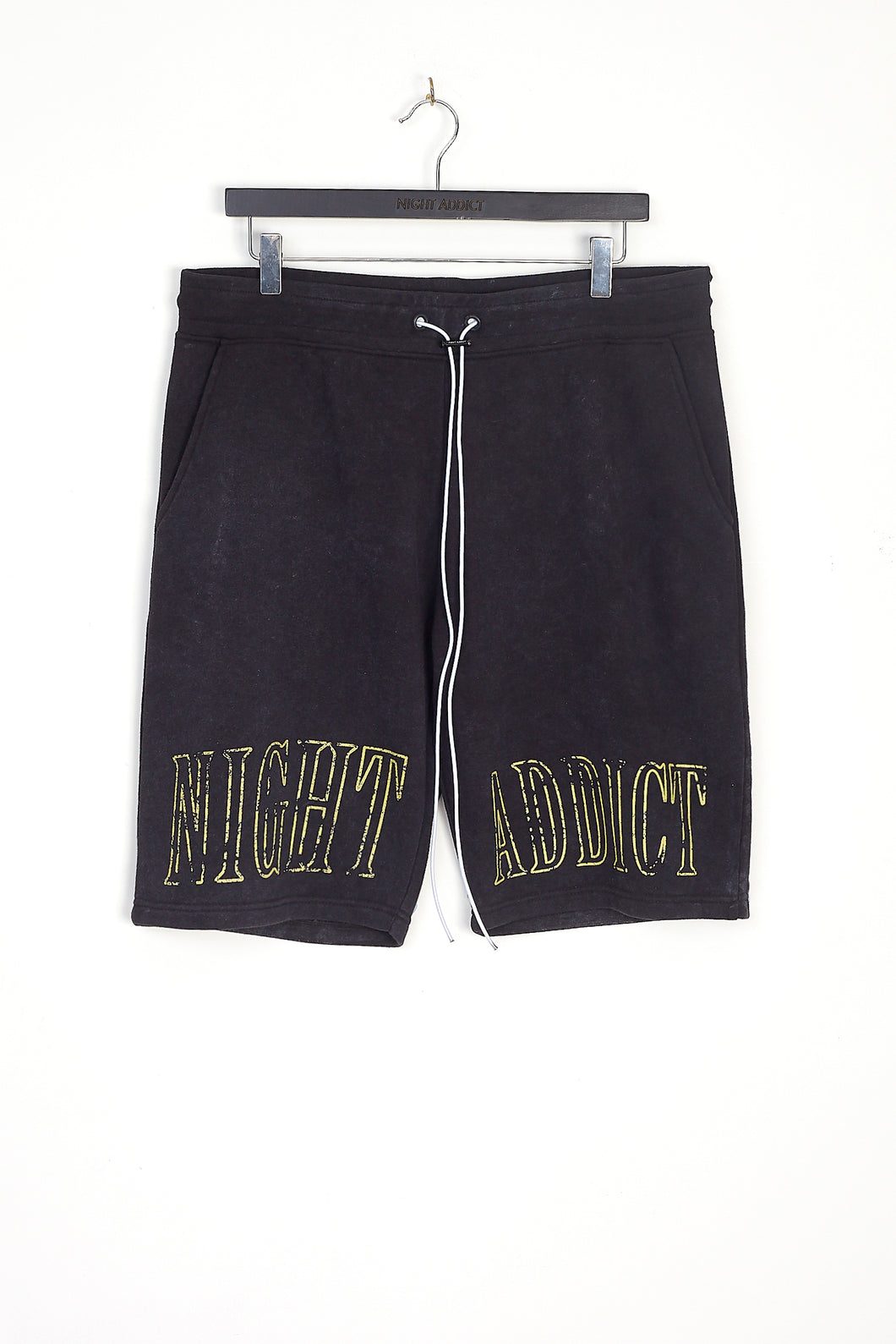 NIGHT ADDICT VINTAGE WASH LOGO SHORTS