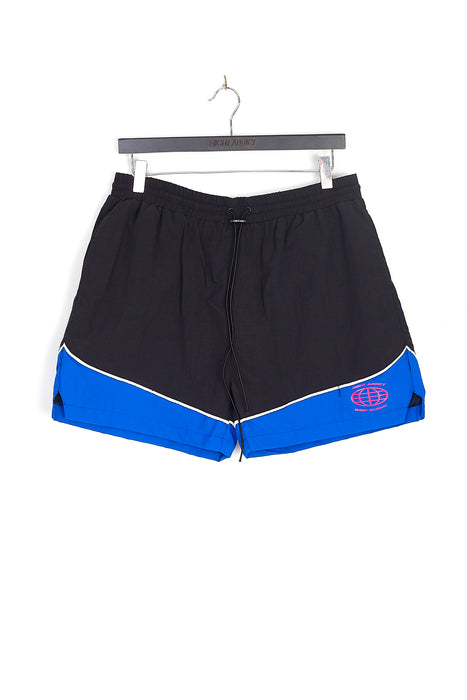 RETRO BLUE PANEL NYLON SHORTS