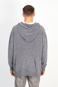 OVERSIZED CHENILLE HOODIE – GREY