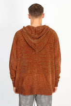 NIGHT ADDICT OVERSIZED CHENILLE HOODIE – BROWN