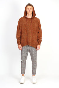 OVERSIZED CHENILLE HOODIE – BROWN