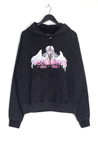 NIGHT ADDICT ACID WASH ANIME HOODIE FRONT