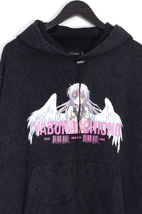 NIGHT ADDICT ACID WASH ANIME HOODIE DETAIL