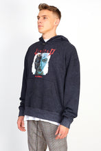 NIGHT ADDICT ACID WASH ROBOT HOODIE SIDE