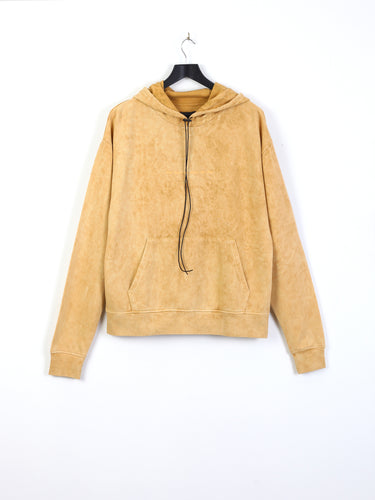 ANGEL HOODIE - TAN ACID WASH