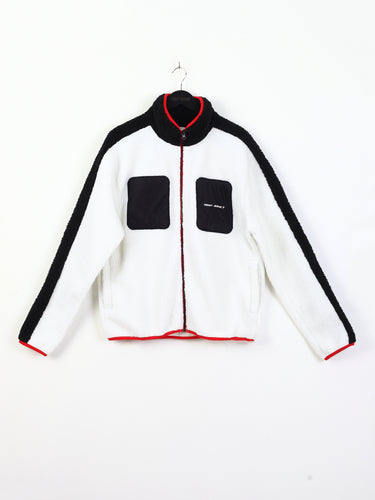 CUT AND SEW BORG ZIP THROUGH